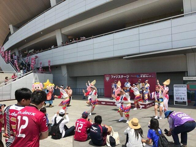 四国大学連による「阿波踊り」、緩急ある踊り