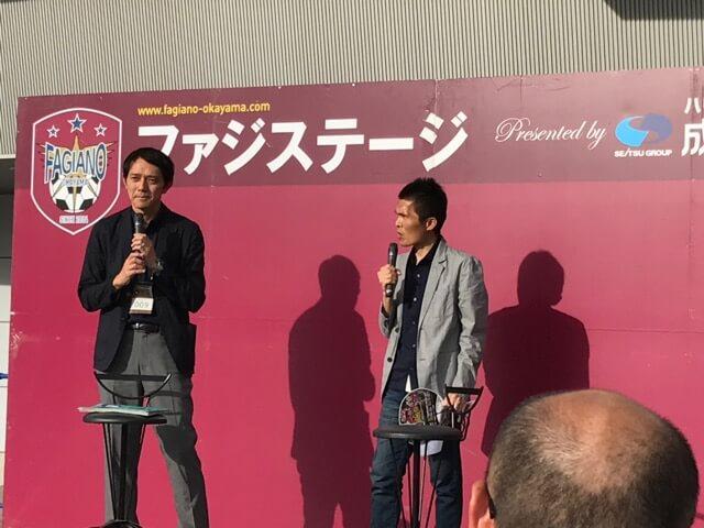 解説の元日本代表・名良橋晃さん(右)と実況の西岡明彦さん
