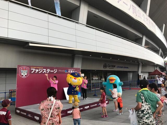 JR西日本岡山支社さんから、くまなくさんとイコちゃんさん登場